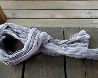 Ecological 100 percent light linen scarf