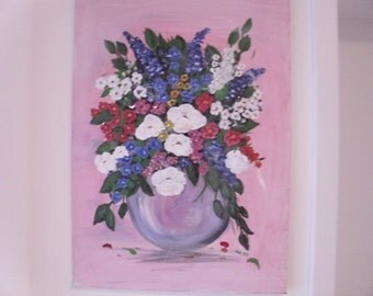 Original handpainted Flowers