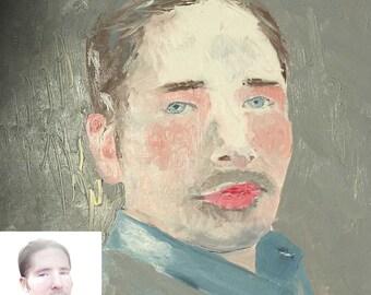 Custom hand painted oil portrait