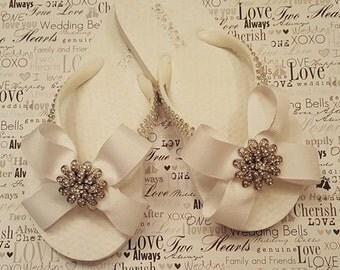 Wedding Flower girl flip flop shoes