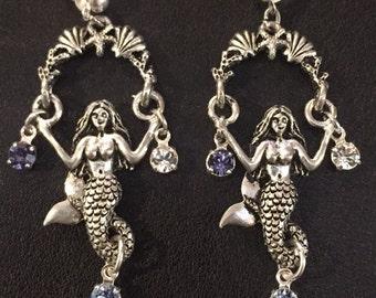 Just Hangin' Around Mermaid Earrings