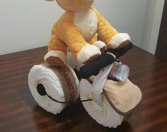 Lion King Tricycle Diaper Cake, Simba, Diaper Cake, Baby Boy, Tricycle Diaper Cake, Lion King