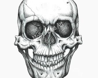 A5 Skull Print