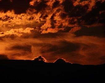 NAC Photography Print - Burning Sky 8x12