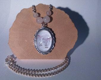 Necklace romantic cabochon