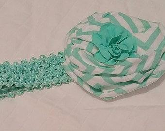 Turquoise Headband Bow