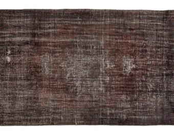 """Black Rugs,5'11""""x9'8"""" Area Rugs,Black Vintage Rugs,Black Interior Design, Carpet, Floor, Wool Rugs, handwoven, handmade"""