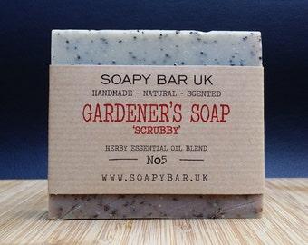 Gardeners 'scrubby' Natural Handmade Soap with Bentonite Clay