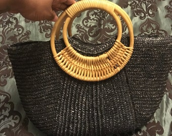 Vintage Top Hand Wicker Bag