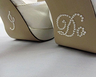I Do & Me Too Shoe Stickers - Blue or Silver