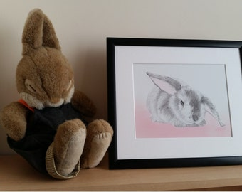 Bunny design 1 half pastel