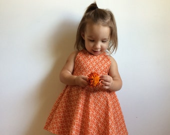 Orange play dress