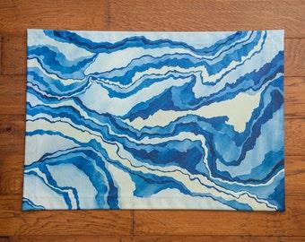 Blue Marble Floor Cloth