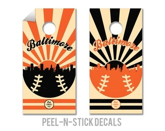 Baltimore Orioles Cornhole Board Decals