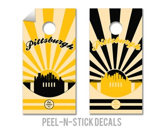 Pittsburgh Steelers Cornhole Board Decals