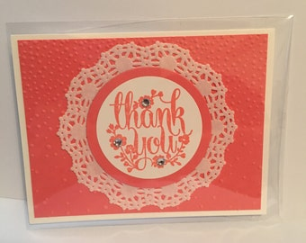 Pink Thank You Note