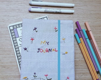 Embroidery Bulet Journal cover