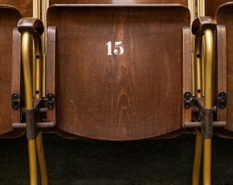 4 x vintage cinema seats seats cinema Chair retro cinema bench seat
