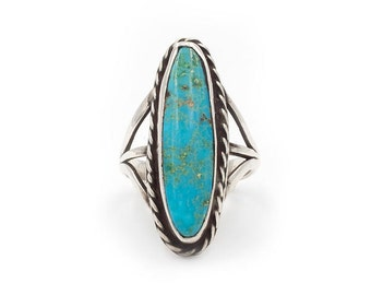 Vintage Native American Turquoise Ring (RESERVED for Carol 1/4)