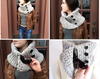 Hand Crocheted Pocket Cowl -