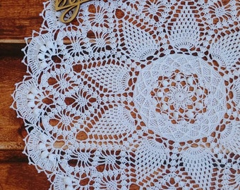 Doily 54cm cotton crocheted