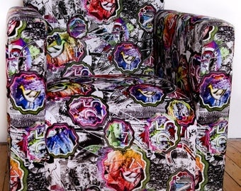Cotton Satin Digitally printed chair