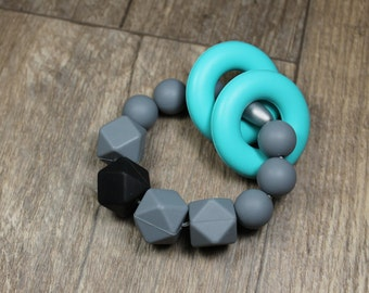 Silicone Teething Toy | Rings | Modern | Perfect Gift | Handmade in Canada | Unique | Teething | Baby | Kenton Creations
