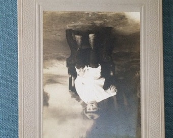 Victorian Cabinet Card, Vintage Photograph, Boy on Chair