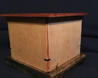 Handmade Wood Remote Control Box