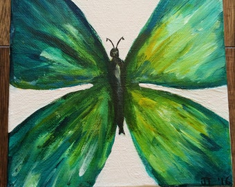 """Original Butterfly Painting """"Spread Your Wings""""  (6x6)"""