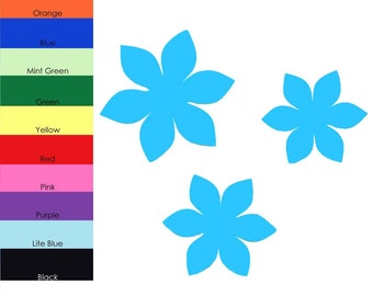 25 pack - Paper Flowers, Flower Shapes, Paper Flower Cut Out, Scrapbook Flowers