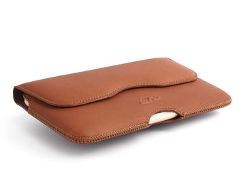Belt Case iPhone 6 Plus - Leather Holster iPhone 6 Plus - iPhone 6 Plus Leather Belt Case - Natural Leather - Top Quality!