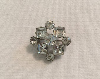 Vintage Crystal Rhinestone Brooch Made in Austria