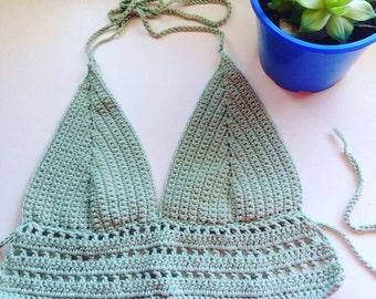 Crochet bikini halter top