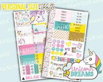 Unicorn Dreams [PERSONAL SIZE KIT] *pre-order* - Personal Size Sticker Kit