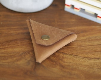 """Beige Color - Handcraft """"Samosa"""" Coin Pouch"""