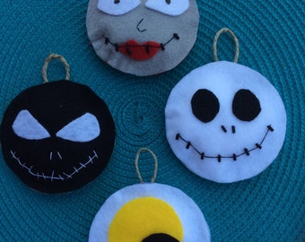 The nightmare before christmas ornament set of 4