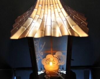 Copper Pagoda Style Tealight Lantern.