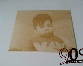 Custom wooden picture portrait 11.5 x 11.5 or 5.7 x 5.7 ""
