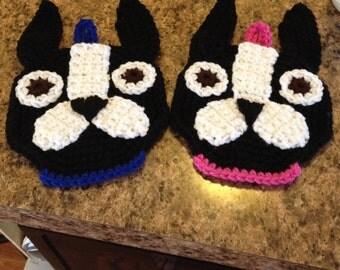 Crochet Boston Terrier Potholder PATTERN ONLY!!!