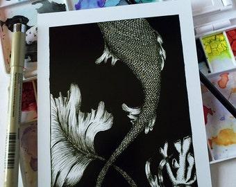 INK PRINT | Mermaid Tale | Art Print