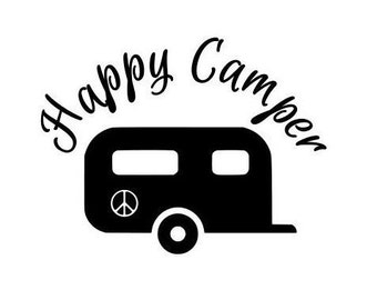 Camping Decal, Happy Camper Decal, Camping Car Decal, Camping Tumbler Decal, Camping Window Decal,  Happy Camping Decal, Camping Sticker