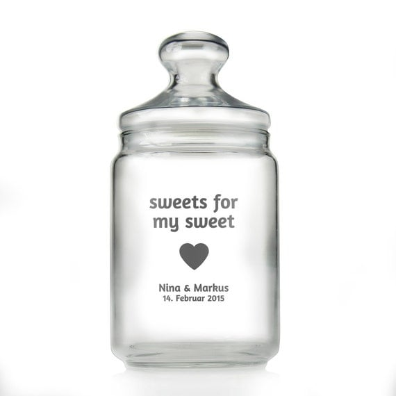 Candy Jar with Names – Personalised Wedding Gift