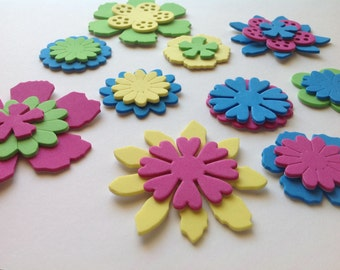 Adhesive Spring Decorations, Spring Flower Die Cut, EVA Die Cut, Applique Flowers for Card Making, Scrapbooking and Craft Projects