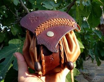 satchel leather - scholarship - braid belt