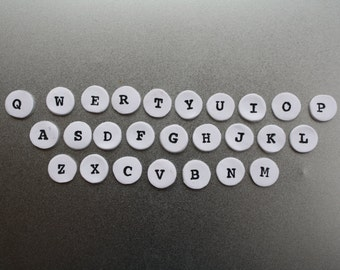 LAST CHANCE Vintage Typewriter Alphabet Key Magnets