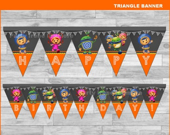 Team Umizoomi triangle Banner Instant download, Team Umizoomi Chalkboard Banner, Team Umizoomi banner