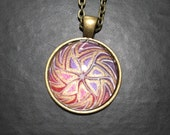 Zentangle-inspired pendant