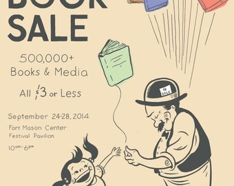 SF Library Big Book Sale posters 3-pack