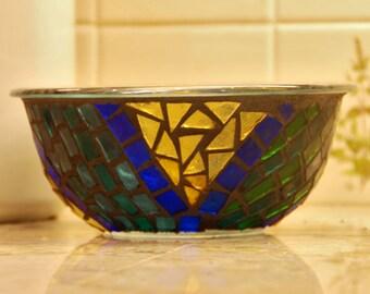 Navajo-inspired Mosaic Bowl